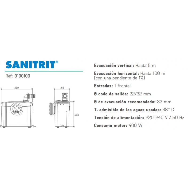 Bomba trituradora para inodoro sanitrit sfa daf tienda for Bomba trituradora inodoro precio